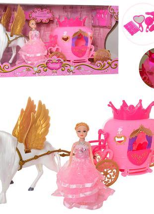 Карета с куклой и лошадью 2204D