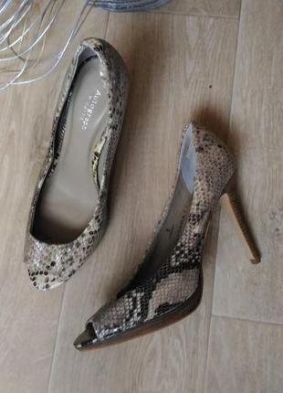 Элегантные туфли autograpf под рептилию, кожа, размер 41-42 обмен