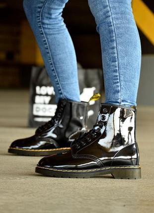 Ботинки dr. martens 1460 lacquer лакированная кожа (36-40)💜