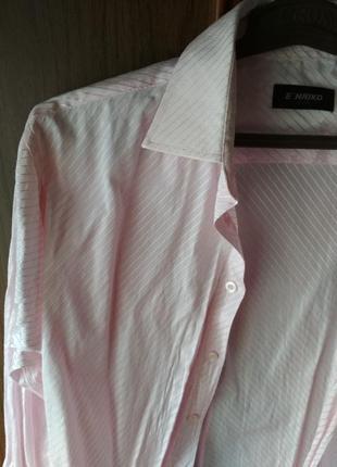 Мужская рубашка нежно-розовая E'nriko {размер ворот 41-42/l/48}