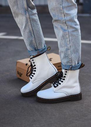 Ботинки dr. martens 1460 white белый цвет кожаные (36-40)💜