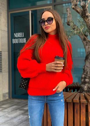Жіночий в'язаний светр свитер кофта джемпер кардиган пуловер п...