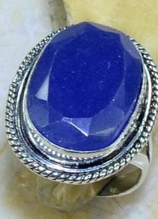 Кольцо с природным сапфиром в серебре 20,0 р индия