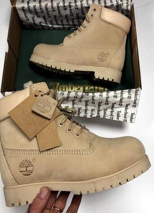 💖распродажа💖женские зимние \демисезонные бежевые ботинки с мех...