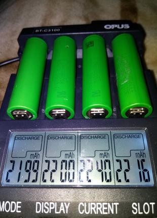 Высокотоковые SONY 18650 30ампер VTC4 2100мач