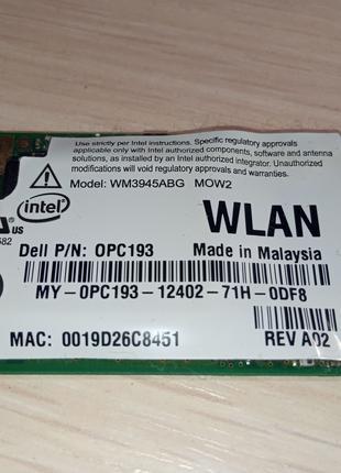 Модуль Wi-Fi mini PCI-E Anatel WM3945ABG MOW2