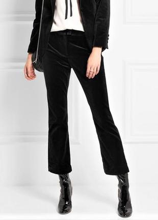 Бархатные брюки с высокой посадкой zara