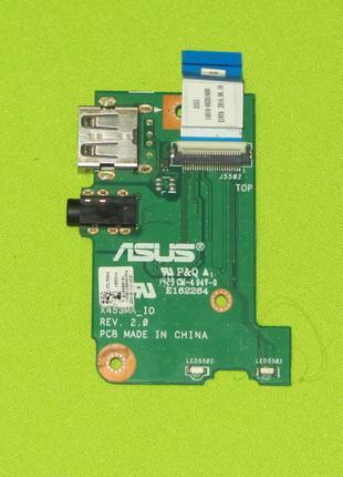 Плата USB + Audio Asus X453MA_IO X553 X453 69N0RLB10A00-01