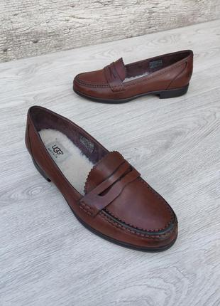 Ugg australia кожаные туфли лоферы 100% оригинал