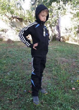Костюм спортивный детский Adidas утеплённый (осень-зима)