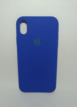 Задня накладка iPhone XR Original Soft Case Ultra Blue