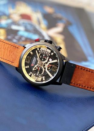 Часы хронограф Curren 8329 black-brown