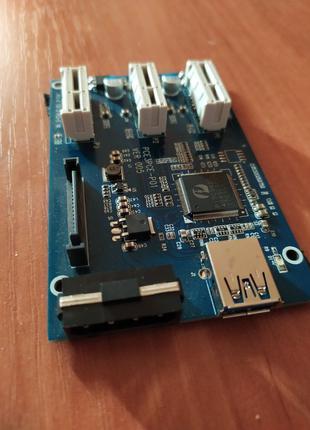 1 PCI-E 1x to 3 PCI-E 1x
