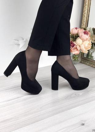 Стильные женские черные туфли