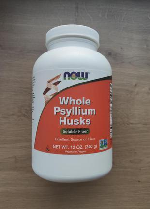 Now foods, Псиллиум, Цельная шелуха семян подорожника, 340гр. США