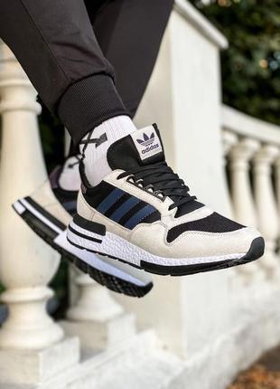 Крутейшие мужские кроссовки adidas zx 500 серые