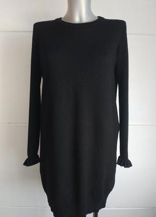 Теплое шерстяное платье-свитер whistles премиум-класса
