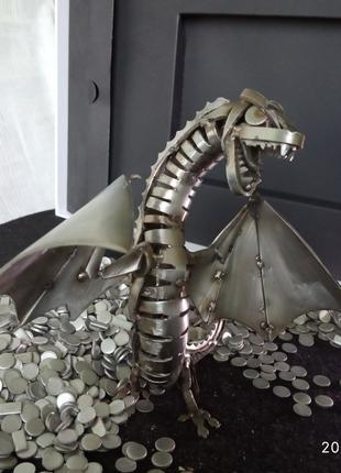 Дракон из метала(нержавейка)