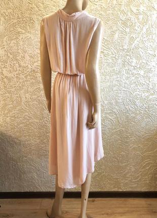 Летнее платье с асимметричной длиной