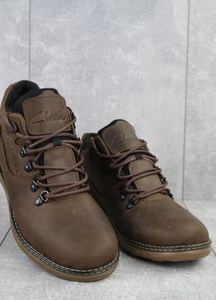 Мужские зимние ботинки из натуральной кожи yuves 600