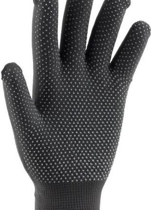 Перчатки рабочие тонкие нейлоновые (черный) 12 пар/уп