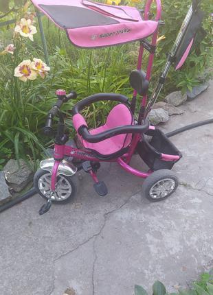 3-х колёсный детский велосипед с ручкой