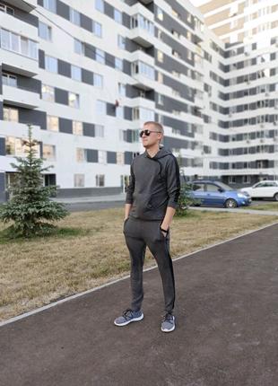 Спортивный костюм мужской серый графит