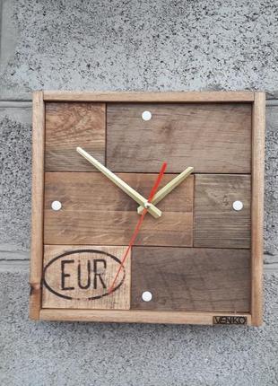 Часы настенный из частей паллета, уникальные настенные часы, д...