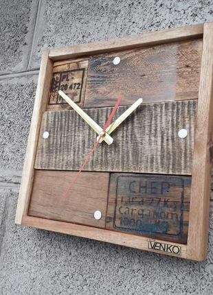 Часы настенные из паллет, настенные часы, уникальные настенные...