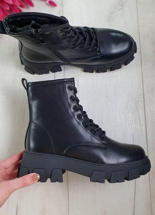 Женские черные ботинки зима 🆕черные зимние сапоги, женские 202...