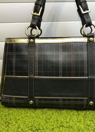 Элитная кожаная сумка французского дома моды pierre cardin ори...