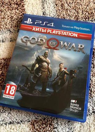 Оригинальный диск PS4 God of War 4  PlayStation 4