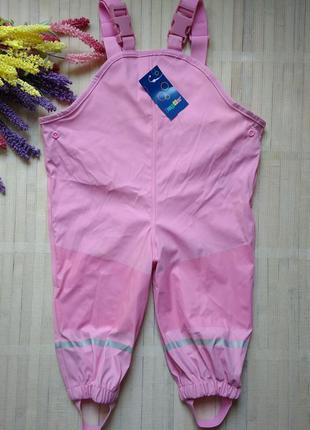 Непромокаемые штаны полукомбинезон от дождя грязепруф lupilu 7...