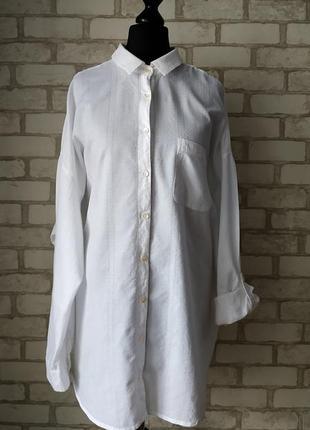 Натуральная рубашка, большой размер