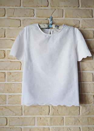 Нежная, натуральная блуза,прошва