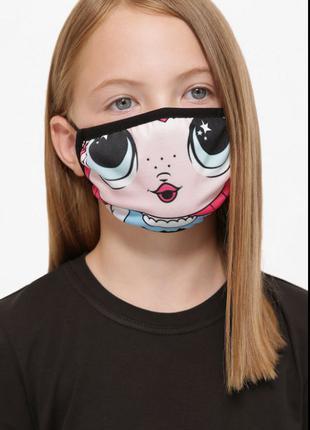Маска для лица, защитная детская ,многоразовая.