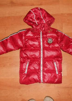 Куртка-пуховик на девочку 4-5 лет