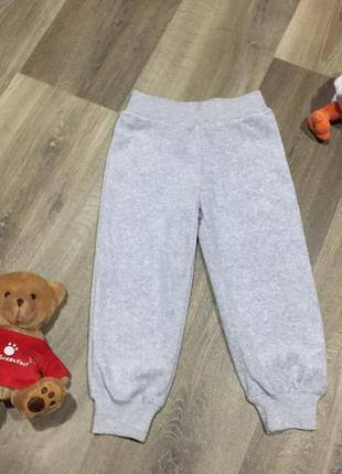 Велюровые спортивные штаны ,на 2/3  года .как новые!