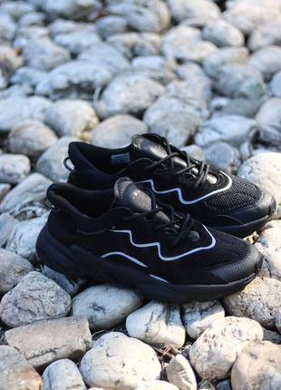 🖤💎adidas ozweego black💎🖤мужские чёрные кроссовки адидас