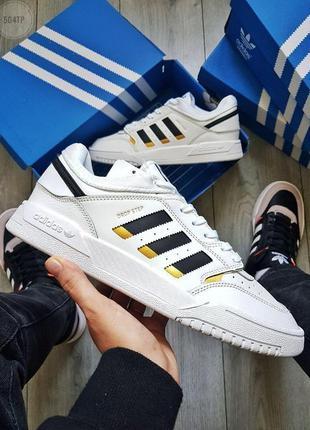 Adidas drop step white\black/gold