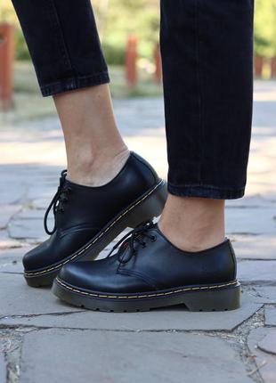 🖤🎀 dr. martens 1461 smooth black🎀🖤 туфли доктор мартинс черные...