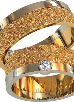 Обручальные кольца Новые Серебро 925 пр Позолота двойная 585пр