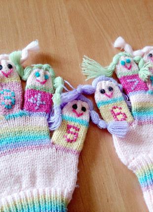 НОВИЕ перчатки детские 3-6 лет. (осень)