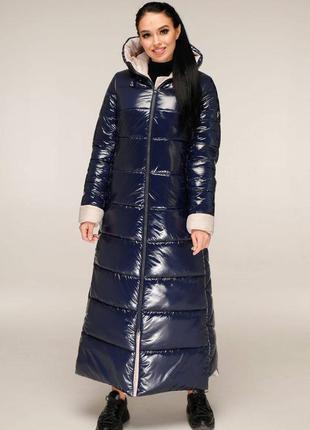 Пуховик с капюшоном, пальто зимнее стёганое.