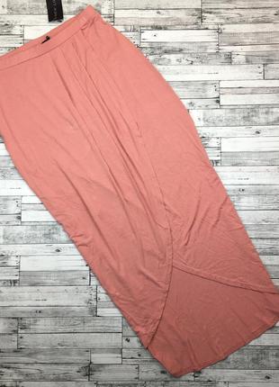 Трикотажная юбка в пол с разрезом, на запах, макси из вискозы.
