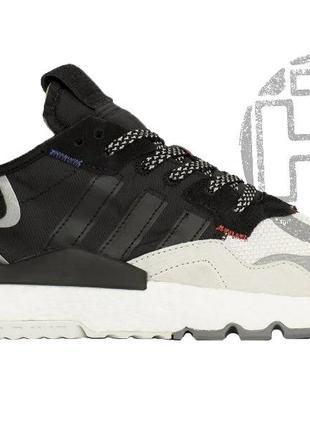 Мужские кроссовки adidas nite jogger 3m black white ef9419
