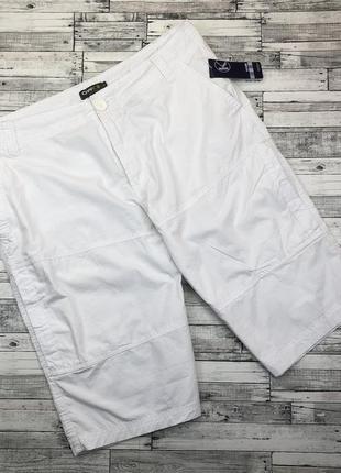 Мужские хлопковые шорты белые, бермунды, чинос большой выбор