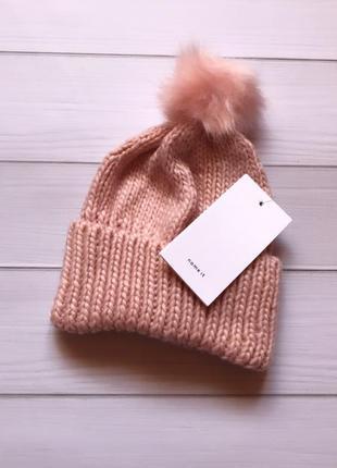 В'язаная шапка для девочек name it