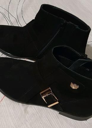 Замшевые демисезонные ботиночки
