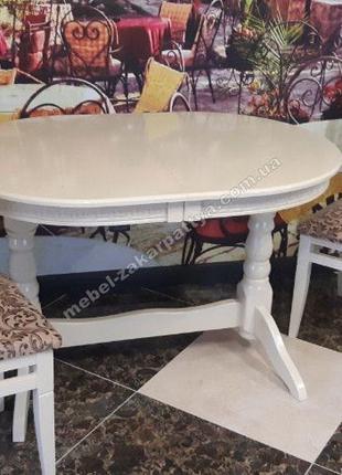 Стол кухонный деревянный овальный. Розкладний стіл на кухню об...
